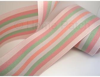 Galon de tatami avec rayures coloris pastels