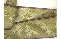 Galon de tatami vert kaki avec feuille de bambou