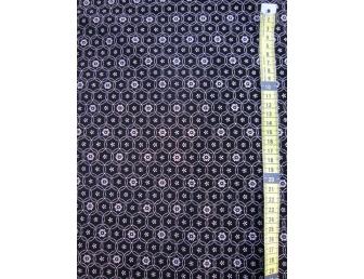Tissu velours fond noir ronds écrus
