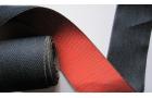 Galon tatami jean réversible bleu et rouge