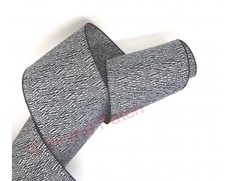 Galon de tatami strié noir et blanc