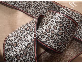 Galon tatami motif panthère