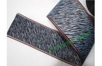 Galon tatami motif zebré noir et gris
