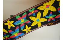 Galon de tatami fleuri avec effet rayures