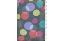 Tulle imprimé ronds multicolores
