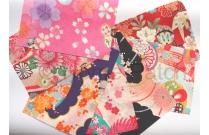 Tissus Chirimen en assortiment de coupons aux coloris variés