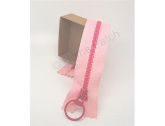 Fermeture éclair bicolore rose clair et fuchsia 20 cm