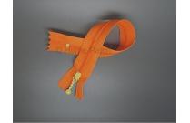 Fermeture éclair orange tirette jaune