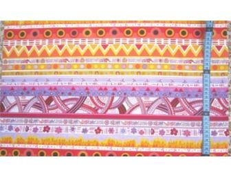 Tissu patchwork japonais F. NAKAYAMA rayures oranges
