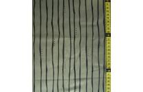 Tissu patchwork japonais Kei Fabrics kaki rayé