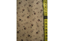 Tissu patchwork japonais LECIEN fond beige