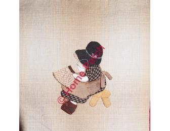 Kit patchwork japonais en appliqué Sunbonnet brodeuse