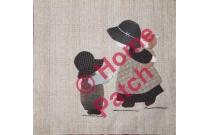 Kit patchwork japonais en appliqué Sunbonnet avec bébé