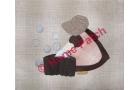 Kit patchwork japonais en appliqué Sunbonnet à la lessive
