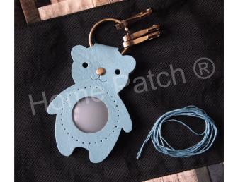Porte-clés à personnaliser ours bleu