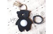 Porte-clés à personnaliser ours noir