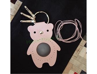 Porte-clés à personnaliser ours rose