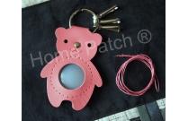 Porte-clés à personnaliser ours rose vif