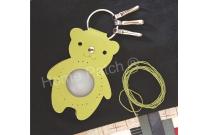 Porte-clés à personnaliser ours vert