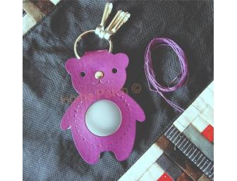 Porte-clés à personnaliser ours violet