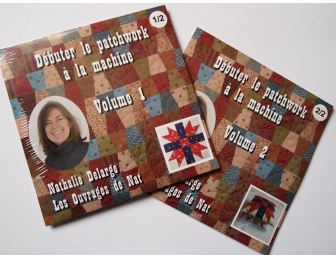 DVD  Débuter le patchwork à la machine Volume 1 et 2