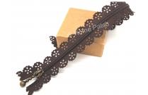 Fermeture éclair dentelle marron chocolat