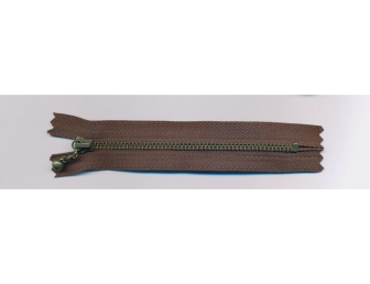 Fermeture éclair 12 cm marron chocolat