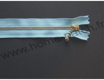 Fermeture éclair 14 cm bleu turquoise