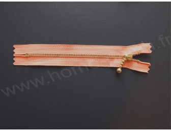 Fermeture éclair 14 cm orange corail