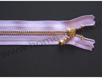 Fermeture éclair 14 cm violet parme