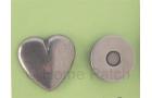 Pression aimantée coeur couleur bronze