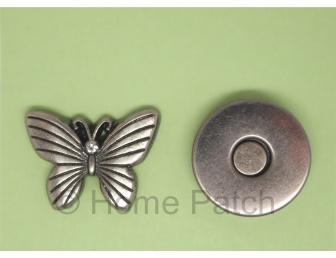 Pression aimantée papillon couleur bronze mat
