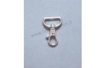 Mousqueton anneau rectangulaire argent 22 mm