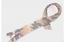 Fermeture éclair imprimée camouflage kaki clair