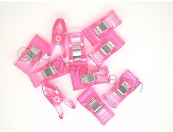 Pinces japonaises pour aide à la couture coloris rose