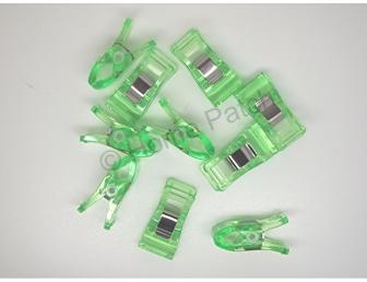 Pinces japonaises pour aide à la couture coloris vert