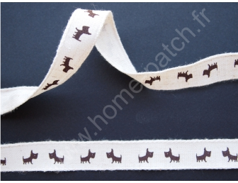ruban imprimé chien