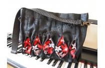 Kit Sac japonais bandoulière Kobe en galon de tatami noir et rouge