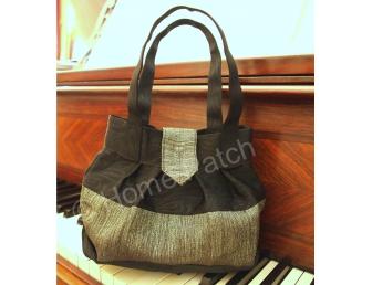 Kit petit sac japonais Sendai en galon de tatami brillant et noir