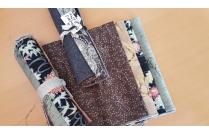 lot 4 coupons tissus patchwork japonais noir marron ou vert