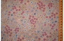 Tissu patchwork japonais LECIEN façon Liberty fond beige saumon
