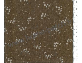 Tissu patchwork japonais Lynette Anderson pour Lecien-petites fleurs fond marron