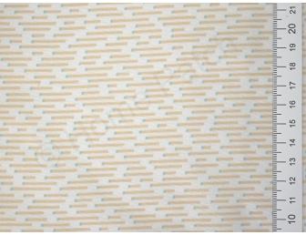 Tissu japonais patchwork Daiwabo rayures beiges fond écru