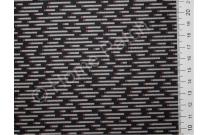 Tissu japonais patchwork Daiwabo rayures grises fond noir