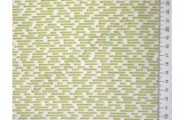 Tissu japonais patchwork Daiwabo rayures vertes fond écru