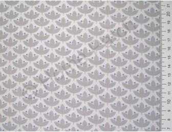 Tissu japonais patchwork Daiwabo feuilles grises