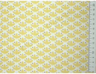 Tissu japonais patchwork Daiwabo feuilles jaunes