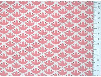 Tissu japonais patchwork Daiwabo feuilles vieux rose