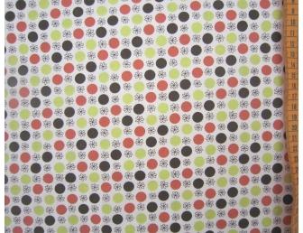 Tissu patchwork japonais Kei Fabrics gros pois