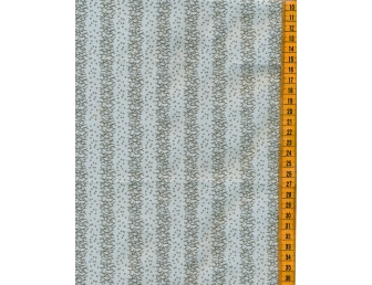 Tissu patchwork japonais H.HANAOKA rayures fond bleu gris